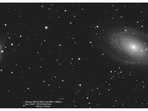 Galassie M81 ed M82 dal balcone di casa